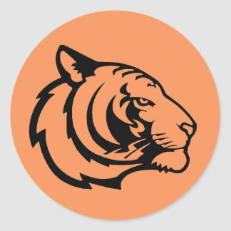 Tiger orange stickers