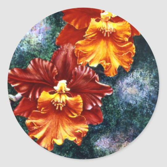 Tiger Orchid Stickers