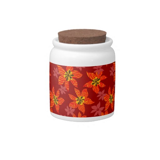 Tiger orchids pattern candy jar