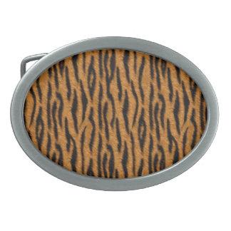 Tiger Oval Belt Buckles