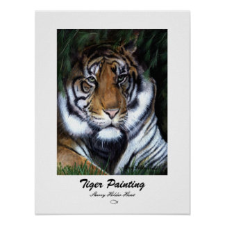 Tiger Painting - Customized Poster