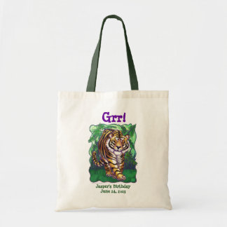 Tiger Party Center Budget Tote Bag