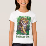 Tiger Party Centre Birthday Girl Tee Shirt