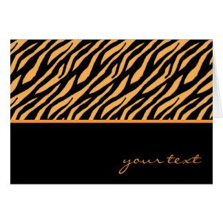 Tiger Pattern Card