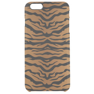 Tiger Pattern Clear iPhone 6 Plus Case