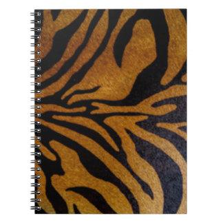 Tiger Pattern Print Design Notebook