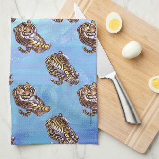 Tiger Patterns Tea Towel