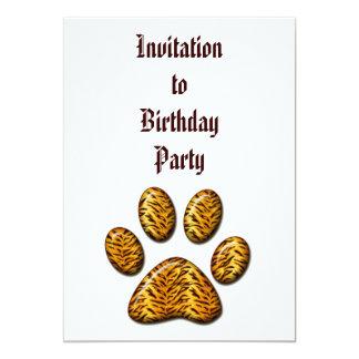 Tiger Paw #1 13 Cm X 18 Cm Invitation Card