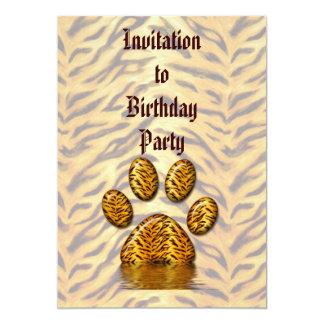 Tiger Paw #2 13 Cm X 18 Cm Invitation Card
