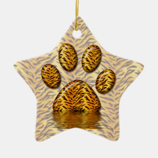 Tiger Paw #2 Christmas Ornament