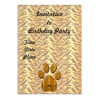 Tiger Paw #2 Magnetic Invitations