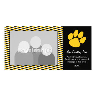 Tiger Paw Print - Sports Fan or Graduation Customised Photo Card