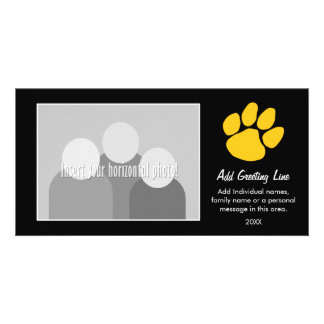 Tiger Paw Print - Sports Fan or Graduation Photo Card Template