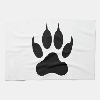 Tiger Paw Print Tea Towel