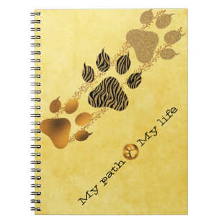 Tiger Paws My Path My Life Notebook