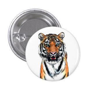 Tiger pen-ink 3 cm round badge