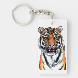 Tiger-pen-ink Key Ring
