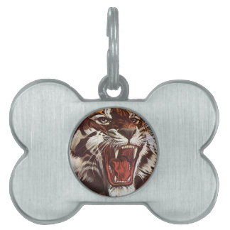 Tiger Pet Name Tag