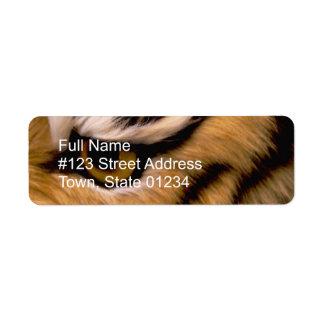 Tiger Photo Return Address Label