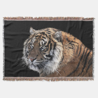 Tiger Photograph Throw Blanket