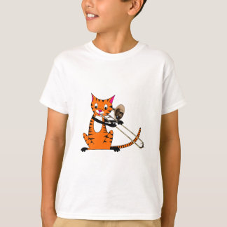 Tiger Playing the Trombone T-Shirt