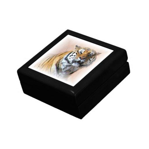 Tiger portrait jewelry boxes