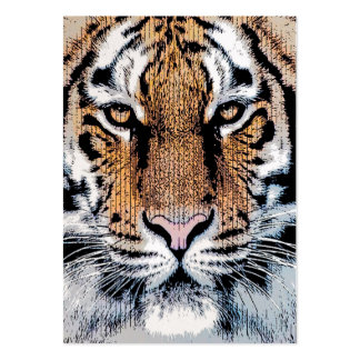 Tiger Portrait in Graphic Press Style Pack Of Chubby Business Cards