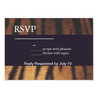 Tiger Print 9 Cm X 13 Cm Invitation Card