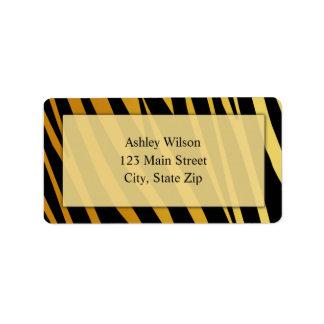 Tiger Print Address Labels