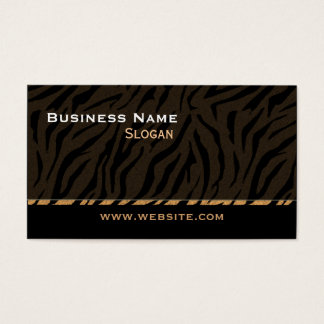 Tiger Print Black Masculine Business Card