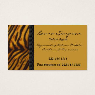 Tiger Print business card