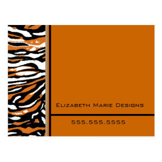 Tiger Print-Business Mailer Postcard