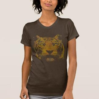 Tiger Print Dark Shirt Ladies Basic