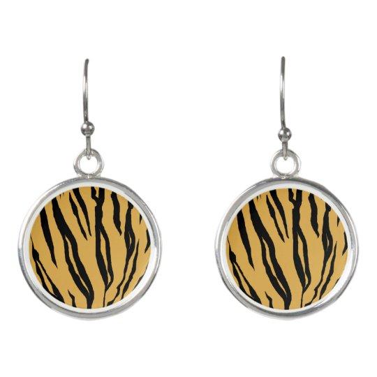 Tiger Print Drop Earrings