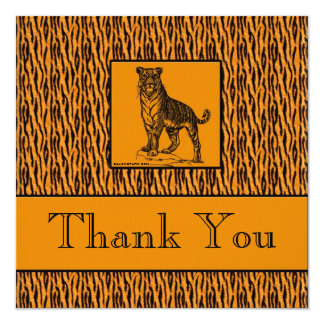Tiger Print Executive Thank You Notes 13 Cm X 13 Cm Square Invitation Card