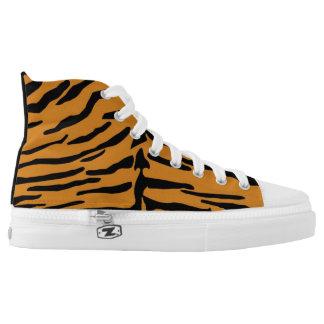 Tiger Print Hi-Top Sneaker Printed Shoes