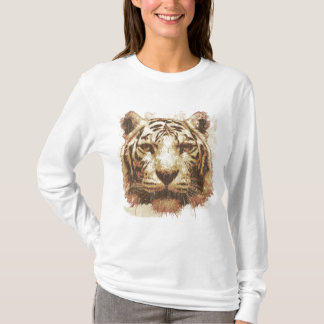 Tiger Print Light Ladies Basic T-Shirt