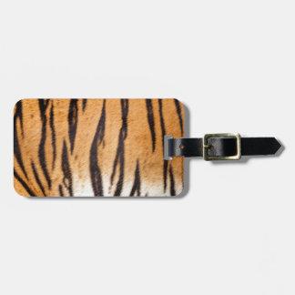 Tiger Print Luggage Tag