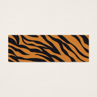Tiger Print Mini Business Card
