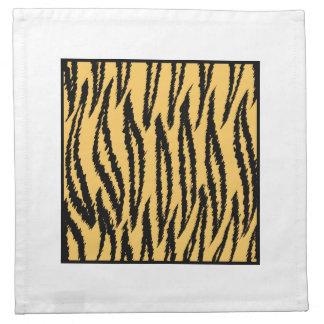 Tiger Print. Orange and Black Pattern. Napkin
