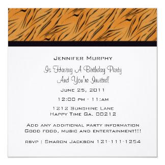 Tiger Print Party Invitations