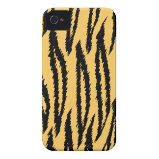 Tiger Print Pattern. Orange and Black. Case-Mate iPhone 4 Case