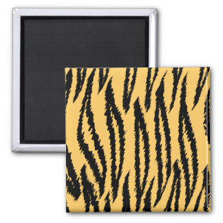 Tiger Print Pattern. Orange and Black. Magnet