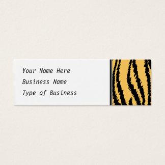 Tiger Print Pattern. Orange and Black. Mini Business Card