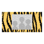 Tiger Print Pattern. Orange and Black. Picture Card