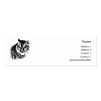 Tiger Profile Card Template Pack Of Skinny Business Cards