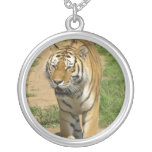 Tiger Prowl Sterling Silver Necklace