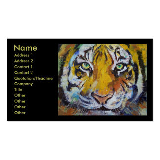Tiger Psy Trance Business Card