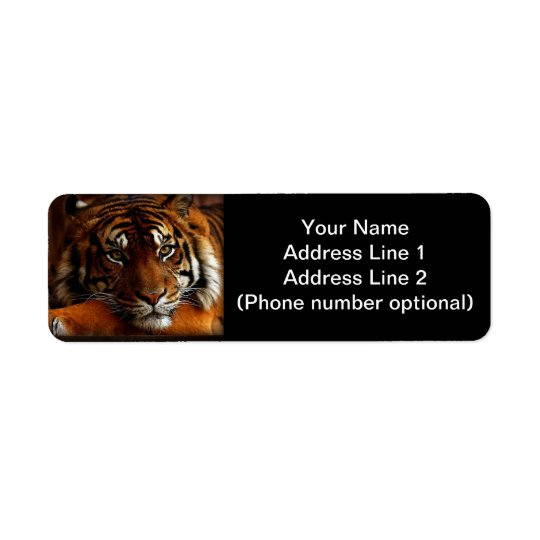 Tiger Return Address Label