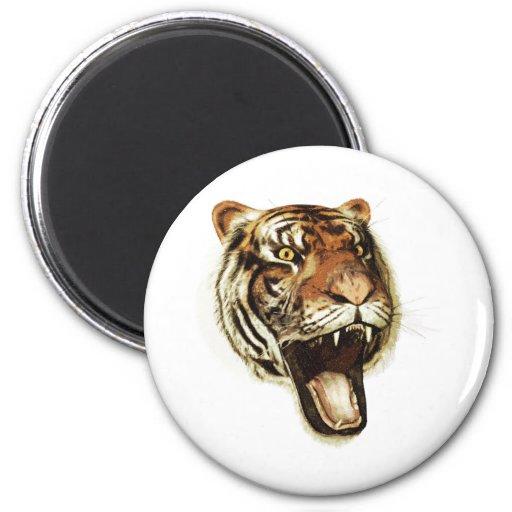 Tiger Roar 6 Cm Round Magnet